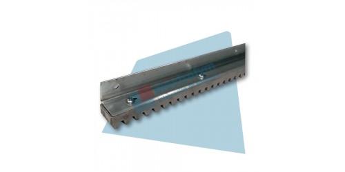 Cremallera de aluminio BBS Motion 1m